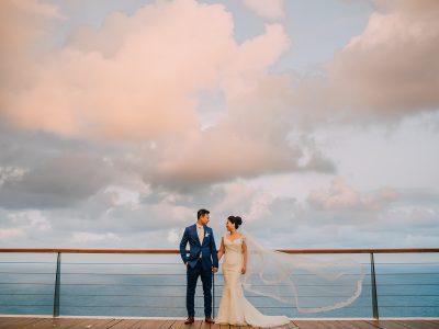 Bali Wedding Destination // Wedding of Christopher + Aprillia at The Edge by Diktat